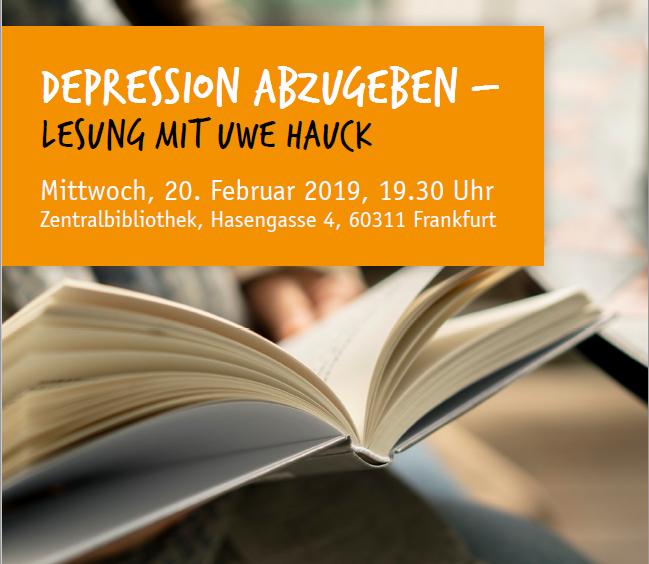 Depression abzugeben – Lesung mit Uwe Hauck