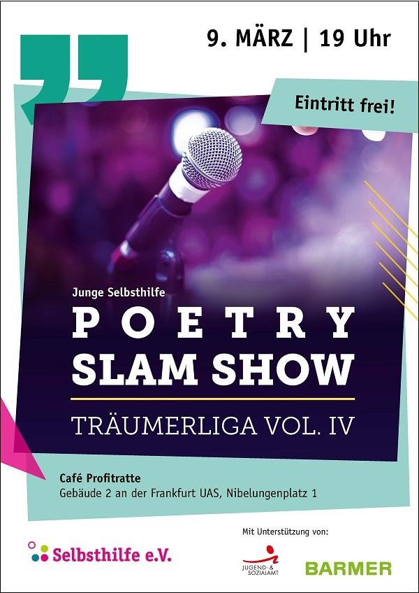 Poetry Slam Show – Träumerliga Vol. IV // Junge Selbsthilfe Frankfurt